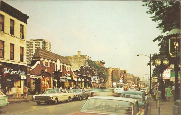 1967 postcard of Old Town. Ripley's would have been on the right side several doors down.